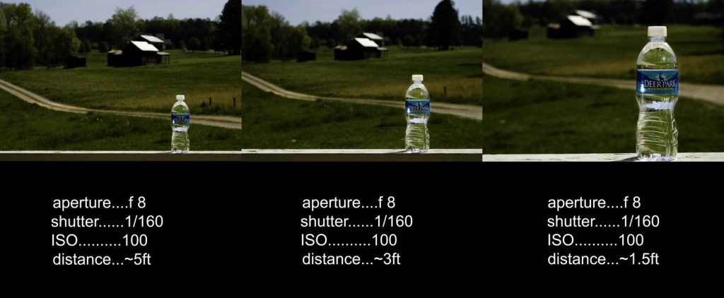 depth of field distance