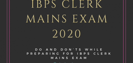 IBPS Clerk mains exam 2020